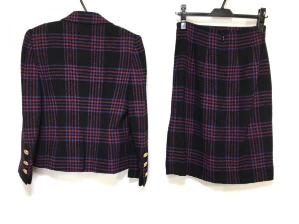 CELINE(セリーヌ) スカートスーツ サイズ38 M レディース 黒×パープル×レッド