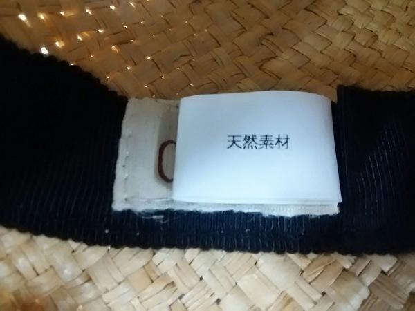 CA4LA(カシラ) ハット美品  ベージュ×黒 リボン ストロー