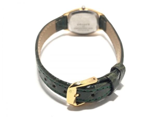 ORIENT(オリエント) 腕時計 69/5402-20 レディース 型押し加工 ダークグリーン