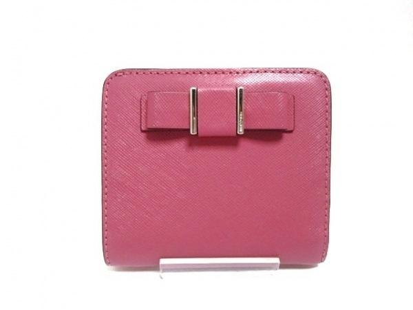 size 40 04733 e50eb COACH(コーチ) 2つ折り財布 - ピンク レザー