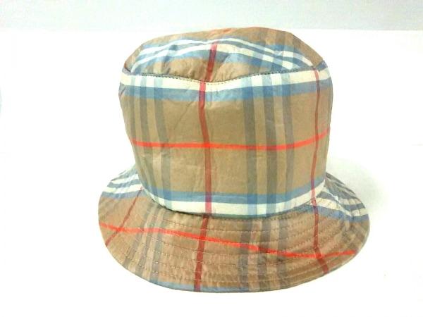 Burberry LONDON(バーバリーロンドン) 帽子 ブラウン×ブルー×マルチ チェック柄