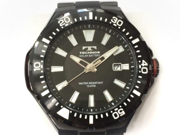 TECHNOS(テクノス) 腕時計美品  T2415 メンズ 黒