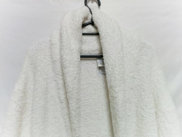KASHWERE(カシウエア) カーディガン サイズS/M ユニセックス 白 バスローブ