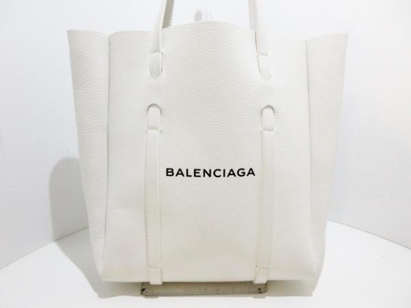 new product 778a9 f6375 BALENCIAGA(バレンシアガ) トートバッグ エブリデイトートXS 489813 白 レザー