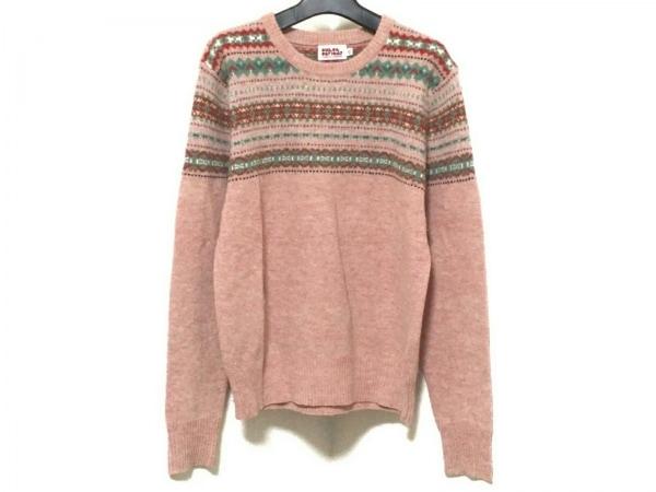 オープニングセレモニー 長袖セーター サイズXS メンズ ピンク×グリーン×マルチ