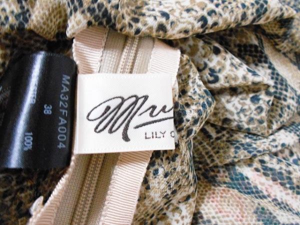 ミュベール ワンピース サイズ38 M レディース美品  ブラウン×黒×アイボリー