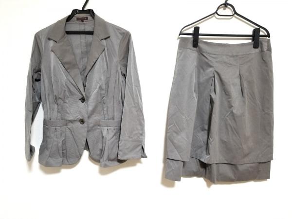 smartpink(スマートピンク) スカートスーツ サイズ44 L レディース美品  ダークグレー