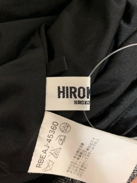 HIROKO BIS(ヒロコビス) ワンピース サイズ9 M レディース新品同様  黒×白 ニット