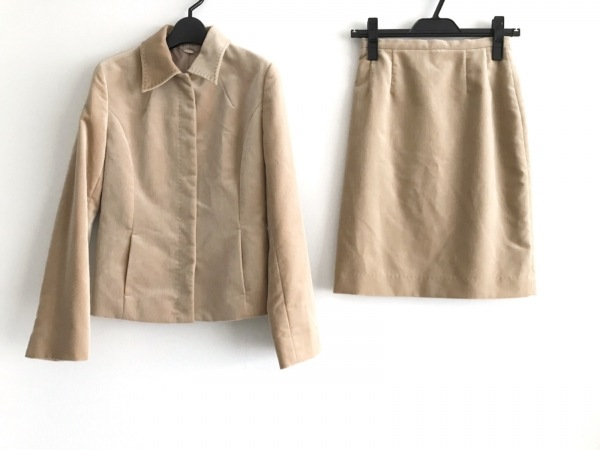 ef-de(エフデ) スカートスーツ レディース ライトブラウン ベロア