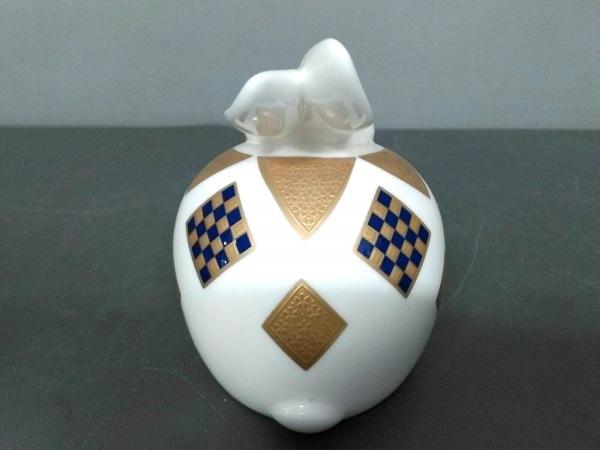 Noritake(ノリタケ) 小物美品  白×ゴールド 置物/ウサギ 陶器