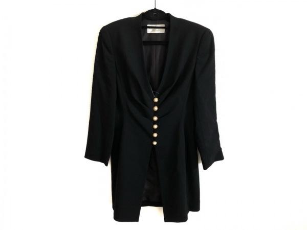 YUKIKO HANAI(ユキコハナイ) コート サイズ9 M レディース美品  黒 春・秋物/肩パッド