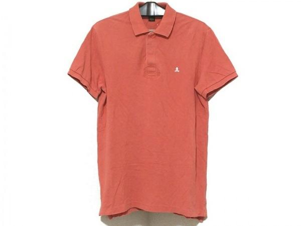 ラルフローレンラグビー 半袖ポロシャツ サイズM メンズ オレンジブラウン