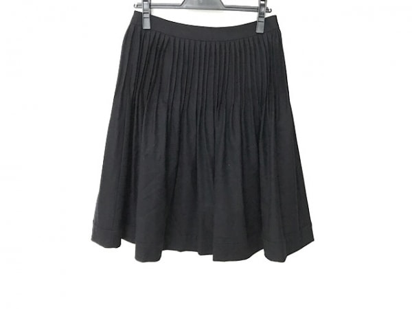 Filo di Seta(フィロディセタ) スカート サイズ40 M レディース美品  黒 プリーツ