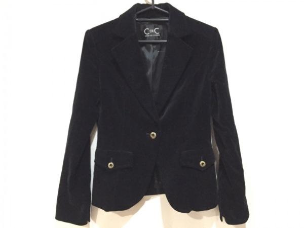 クードシャンス ジャケット サイズ38 M レディース新品同様  黒 ベロア