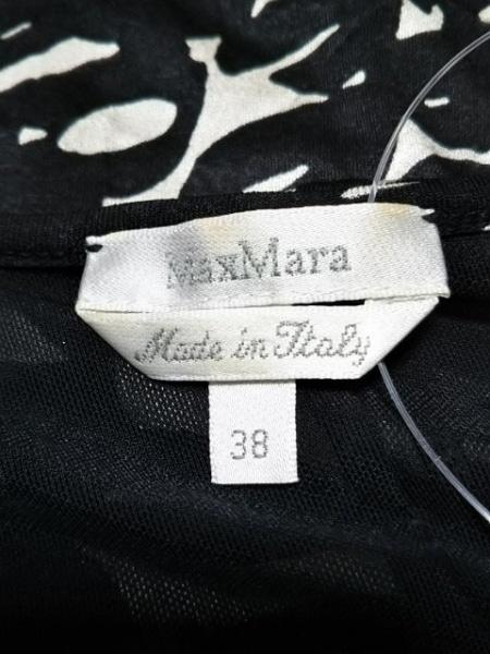 Max Mara(マックスマーラ) ワンピース サイズ38 S レディース 黒×アイボリー