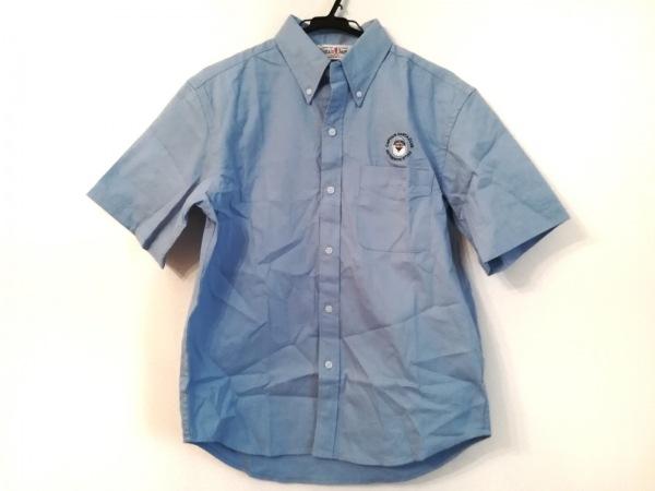 キャプテンサンタ 半袖シャツ サイズM メンズ美品  ライトブルー×黒×マルチ