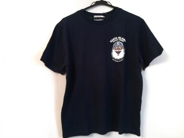キャプテンサンタ 半袖Tシャツ サイズM メンズ美品  ダークネイビー×白×マルチ