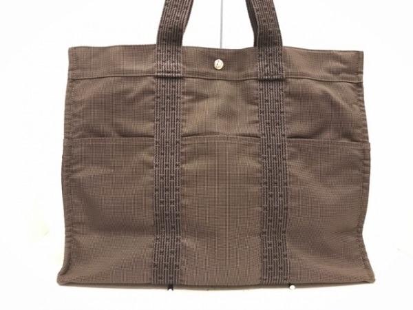 HERMES(エルメス) ハンドバッグ美品  エールライントートGM グレー 旧型金具