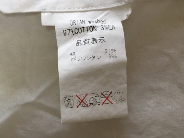 ORIAN(オリアン) 長袖シャツブラウス サイズ37 レディース 白