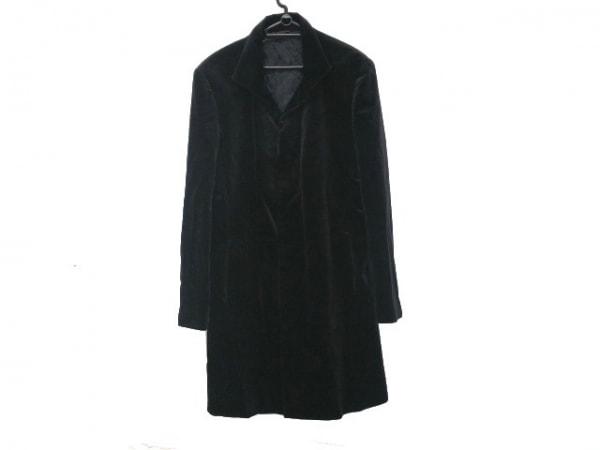 コムサコレクション コート サイズL メンズ美品  黒 冬物/ベロア