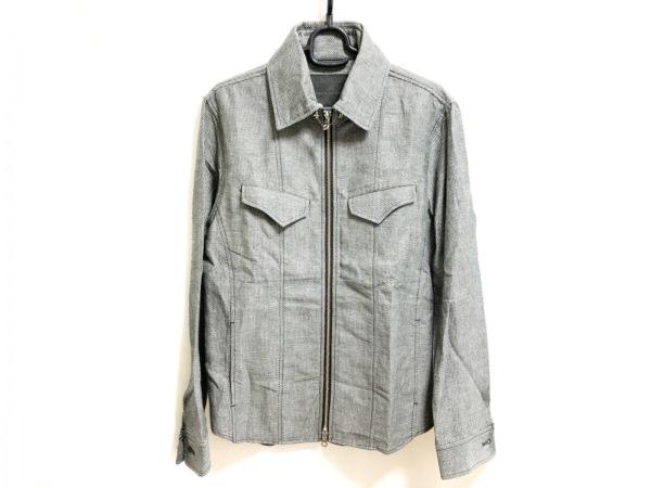 MEN'SBIGI(メンズビギ) ブルゾン メンズ美品  黒×ライトグレー 春・秋物