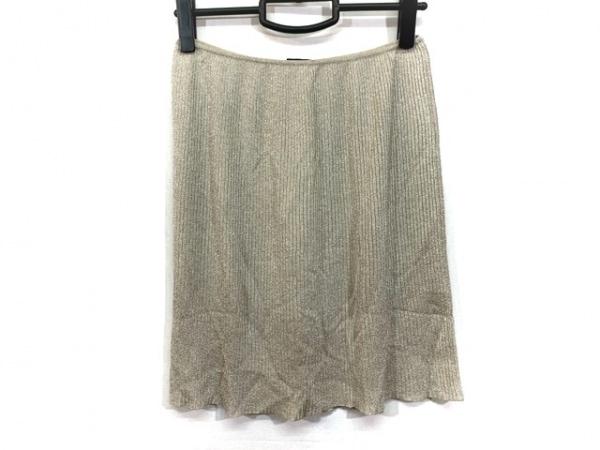 GUCCI(グッチ) スカート サイズM レディース ベージュ ラメ