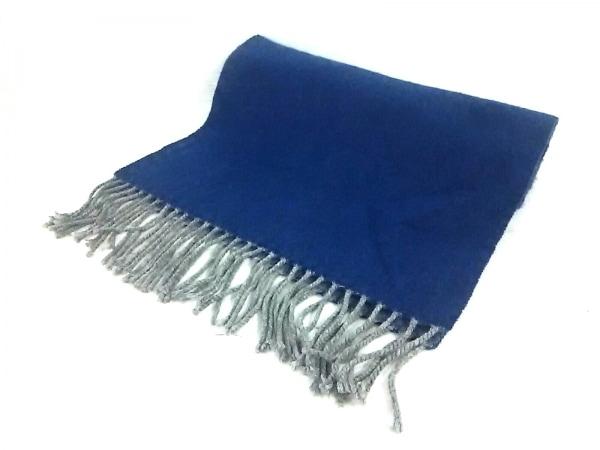 EDIFICE(エディフィス) マフラー美品  ブルー カシミヤ