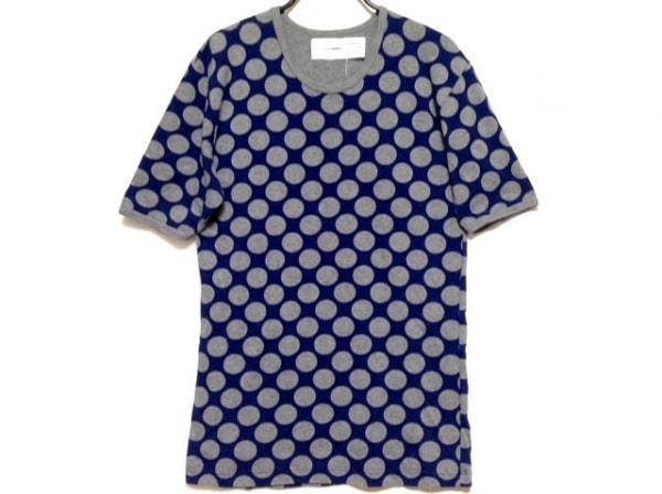 コムデギャルソンシャツ 半袖Tシャツ サイズS メンズ ブルー×グレー ドット柄