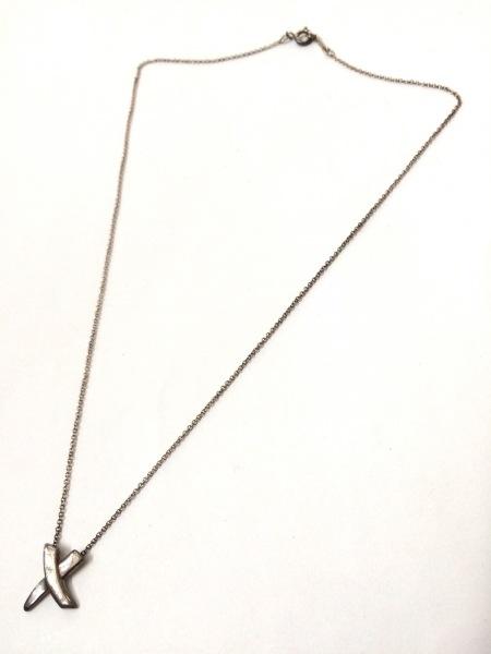 TIFFANY&Co.(ティファニー) ネックレス美品  キス シルバー