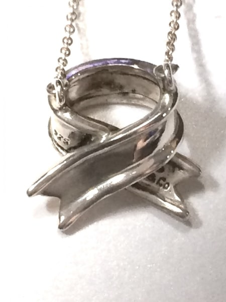 TIFFANY&Co.(ティファニー) ネックレス美品  - シルバー リボン