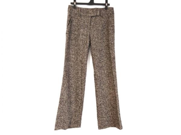 エルマノシェルビーノ パンツ サイズ38 M レディース ベージュ×黒×ブラウン