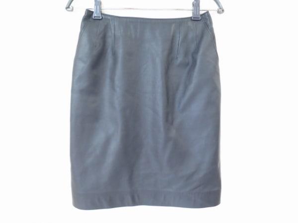 TAE ASHIDA(タエアシダ) スカート サイズ9 M レディース美品  黒 レザー