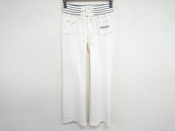 Castelbajac(カステルバジャック) パンツ サイズ9 M レディース 白×黒 +2NATURE