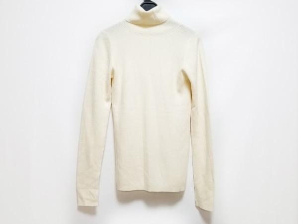 ジユウク 長袖セーター サイズ38 M レディース アイボリー タートルネック