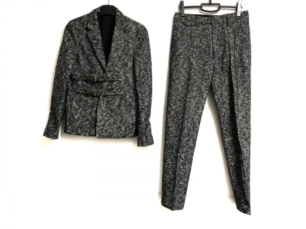 クリスヴァンアッシュ メンズスーツ サイズ44 L メンズ 黒×グレー×アイボリー