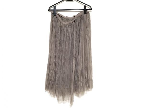 バルコニーアンドベッド 巻きスカート レディース美品  ブラウン シースルー