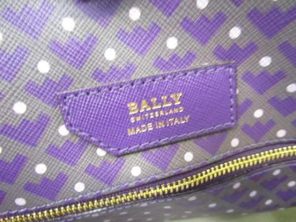 BALLY(バリー) トートバッグ美品  パープル×ダークグレー PVC(塩化ビニール)×レザー