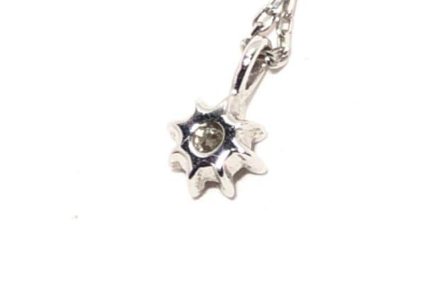 TAKE-UP(テイクアップ) ネックレス美品  K10WG×ダイヤモンド 1Pダイヤ/0.03カラット