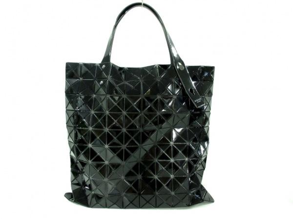 バオバオイッセイミヤケ トートバッグ美品  黒 PVC(塩化ビニール)×化学繊維