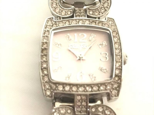 FolliFollie(フォリフォリ) 腕時計美品  WF5T120BP レディース ラインストーン ピンク