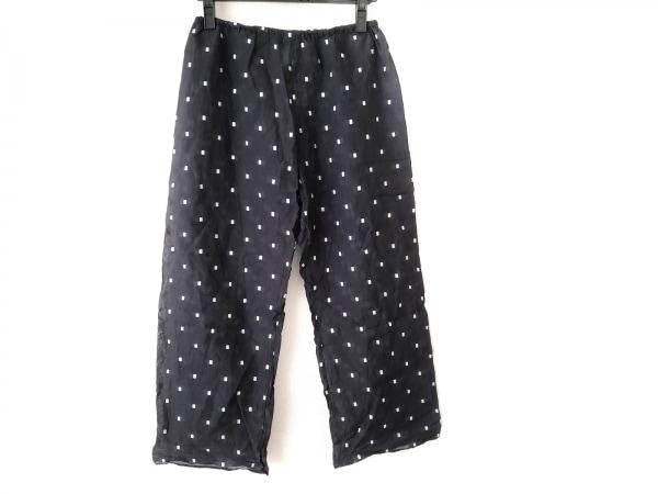 オールドマンズテーラー パンツ サイズL レディース 黒×白 刺繍/シースルー