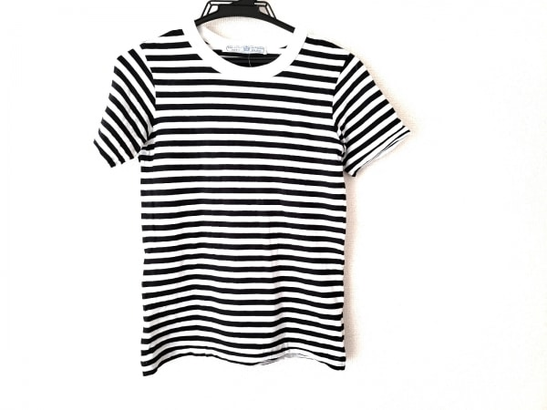 R&D.M.Co-(オールドマンズテーラー) 半袖Tシャツ レディース - 黒×白 ボーダー