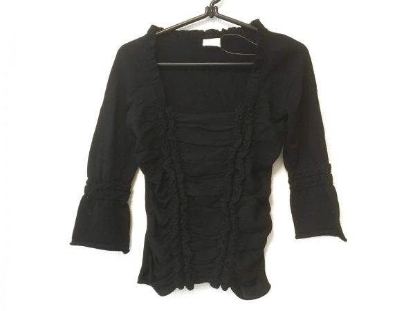 VALENTINO ROMA(バレンチノローマ) 七分袖セーター レディース 黒 フリル