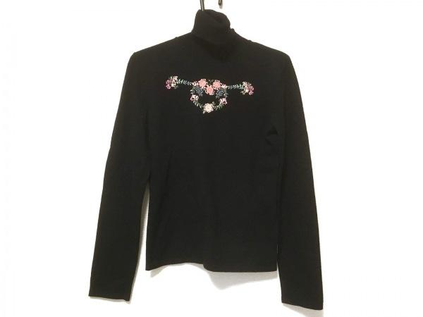 バレンチノ 長袖セーター サイズ44 L レディース 黒×ピンク×マルチ