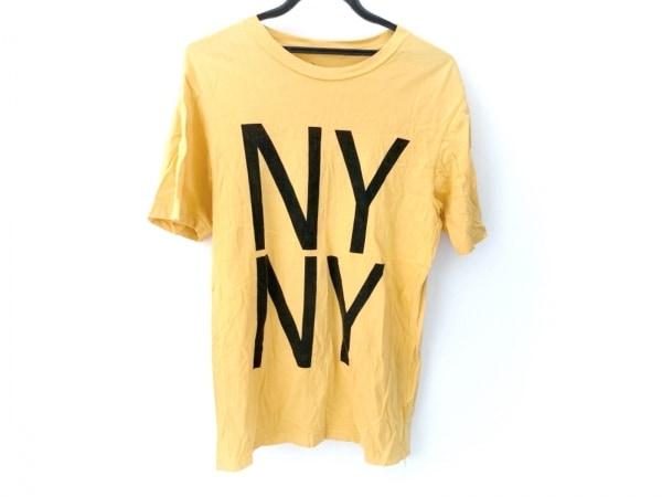 サタデーズ サーフ ニューヨーク 半袖Tシャツ サイズM メンズ美品  オレンジ×黒