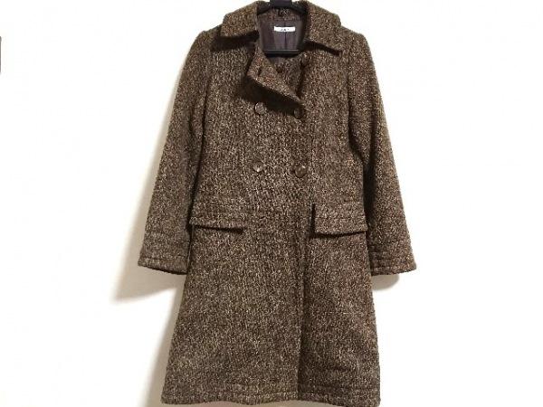ジェイフェリー コート サイズ42 L レディース美品  ブラウン×ベージュ×黒 冬物