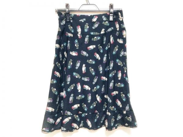 ソニアリキエル スカート サイズ38 M レディース美品  黒×グレー×マルチ