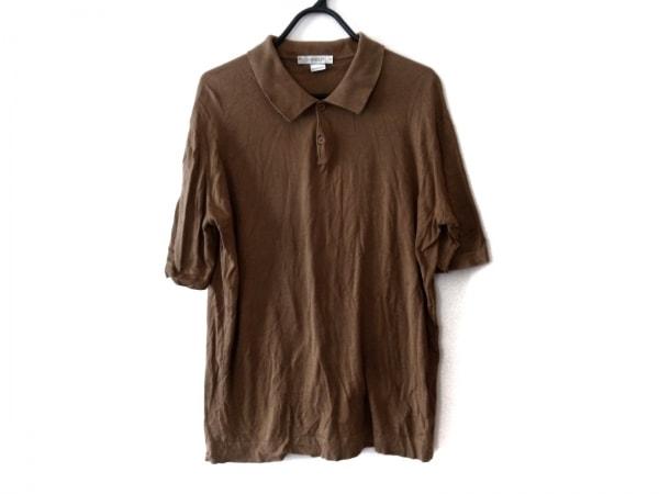 JOHN SMEDLEY(ジョンスメドレー) 半袖ポロシャツ サイズM メンズ ブラウン