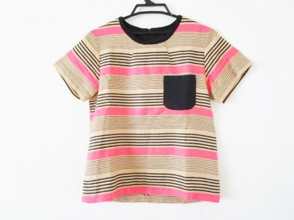 シーニューヨーク 半袖カットソー サイズ2 M レディース ベージュ×黒×ピンク