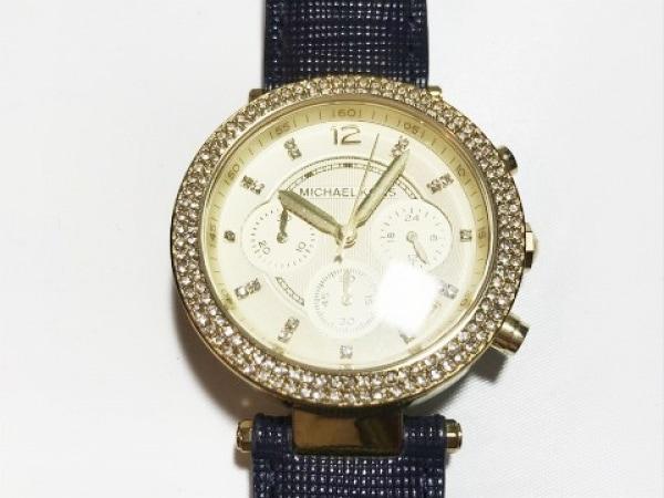 MICHAEL KORS(マイケルコース) 腕時計美品  パーカー MK-2280 レディース アイボリー